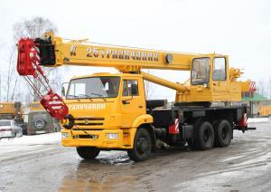 Автокран Галичанин КС-55713-1В 25 тонн 28м
